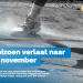 Einde seizoen verlaat naar midden november